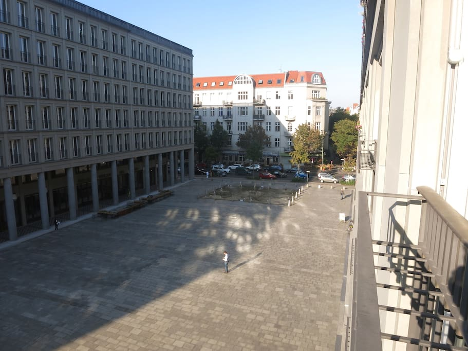 View from the apartment (Walter-Benjamin-Platz)