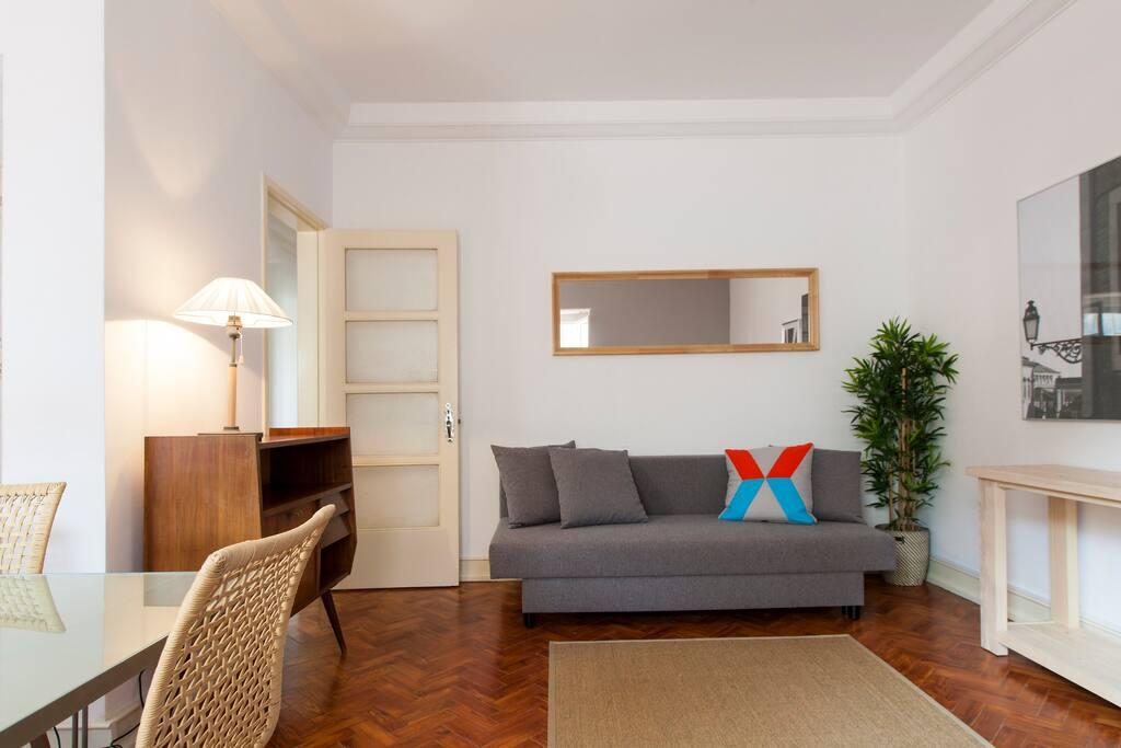 Living room: 2 double sofa-bed for 2 (sleep 4)