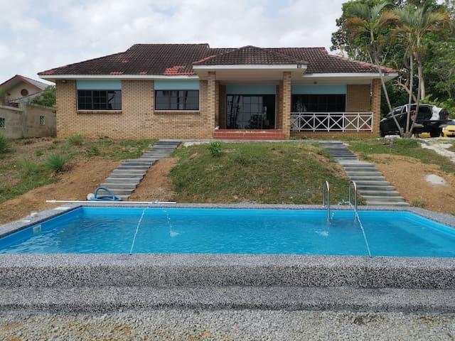 Port Dickson beachfront villas with pool