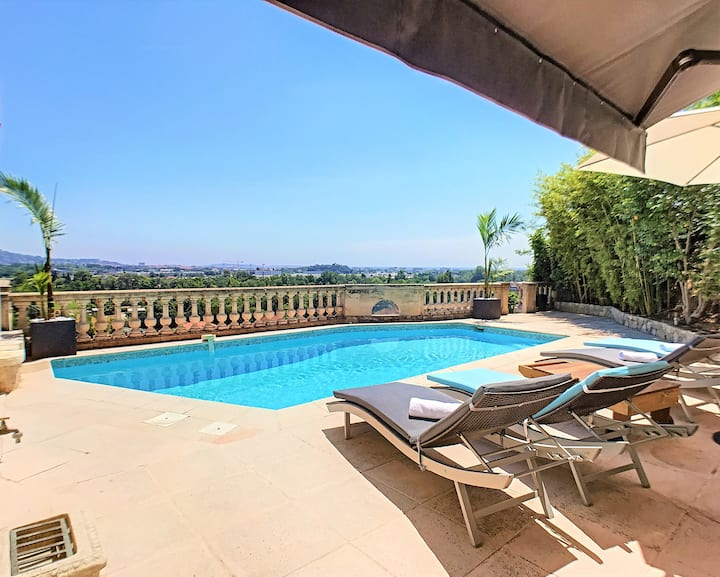 3 Bedrooms Villa near Cannes -Pool & Jacuzzi
