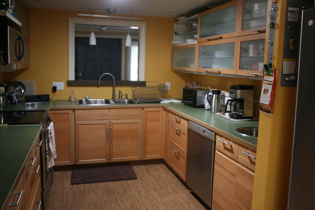 Kitchen- We'll save you some cabinet and refrigerator space if you need it.