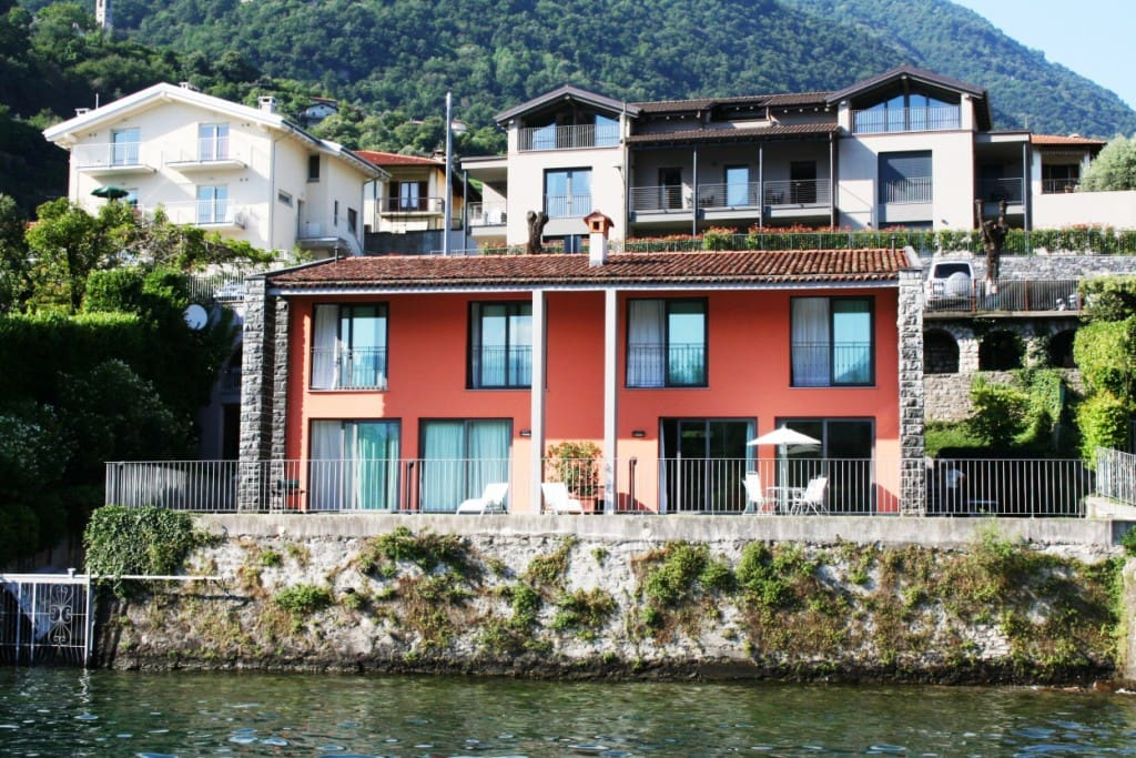 "Ca'Pradel ""the house on the little field"" enjoys a unique dress-circle position opposite Isola Comacina with absolute garden waterfrontage on Lake Como"