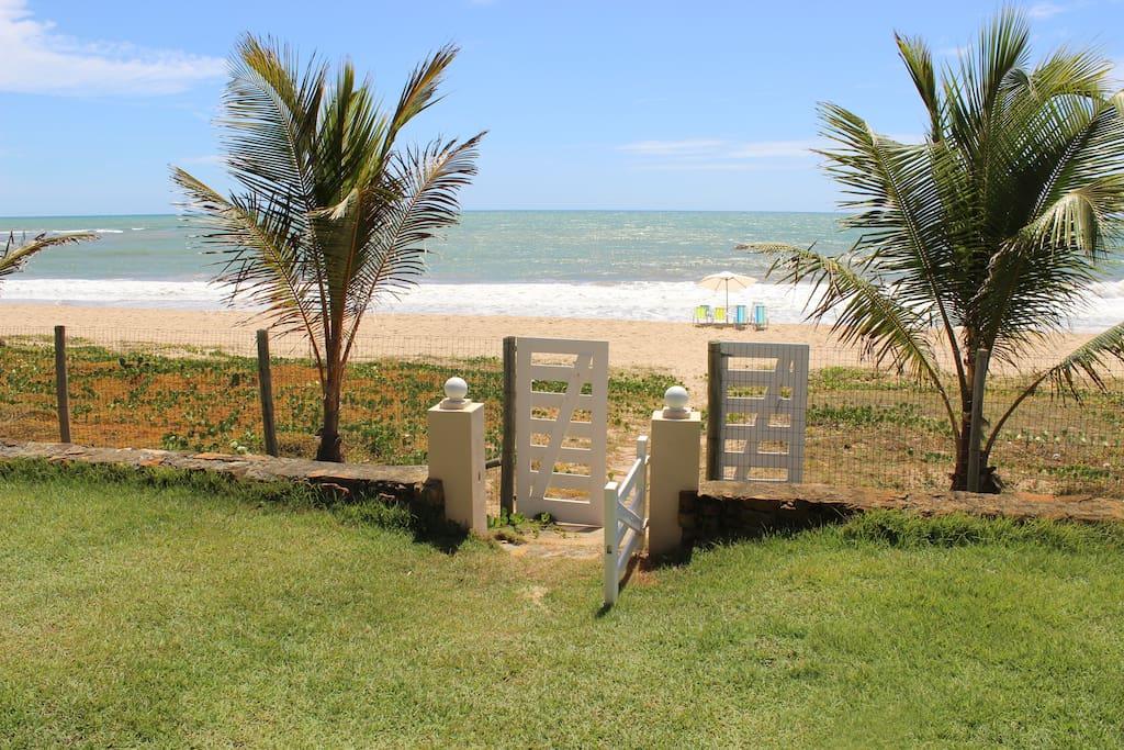 Acesso privativo à praia