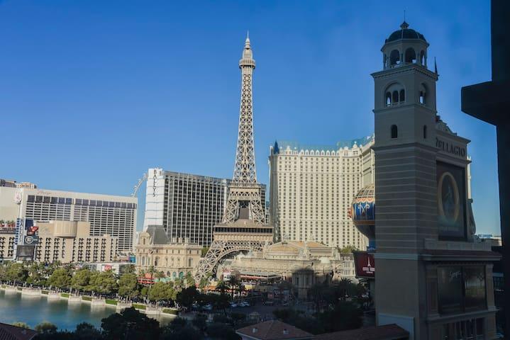 Amazing view of Paris Casino & Bellagio Casino