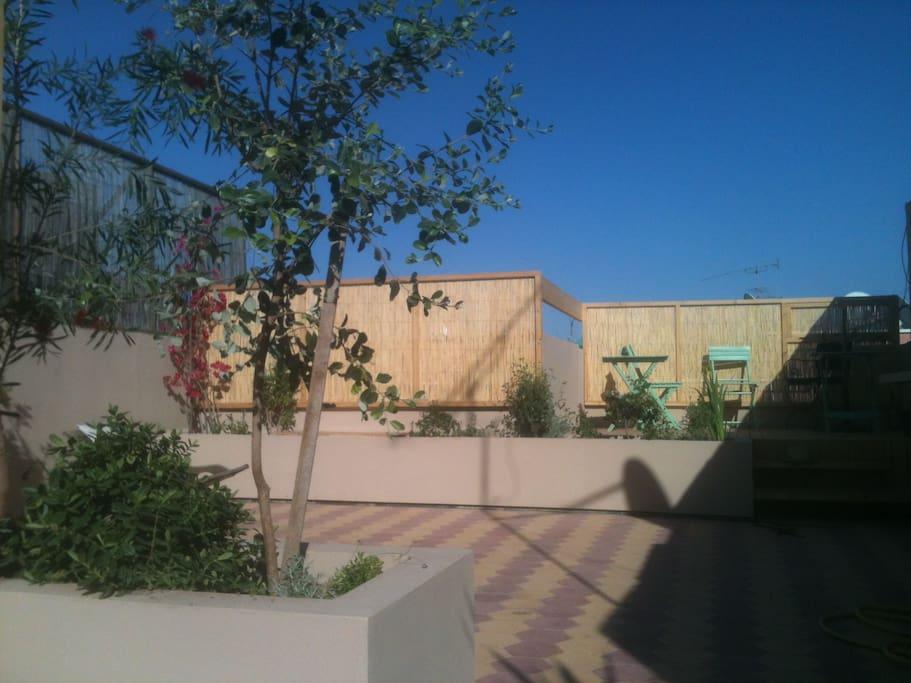 vue d'ensemble de la terrasse