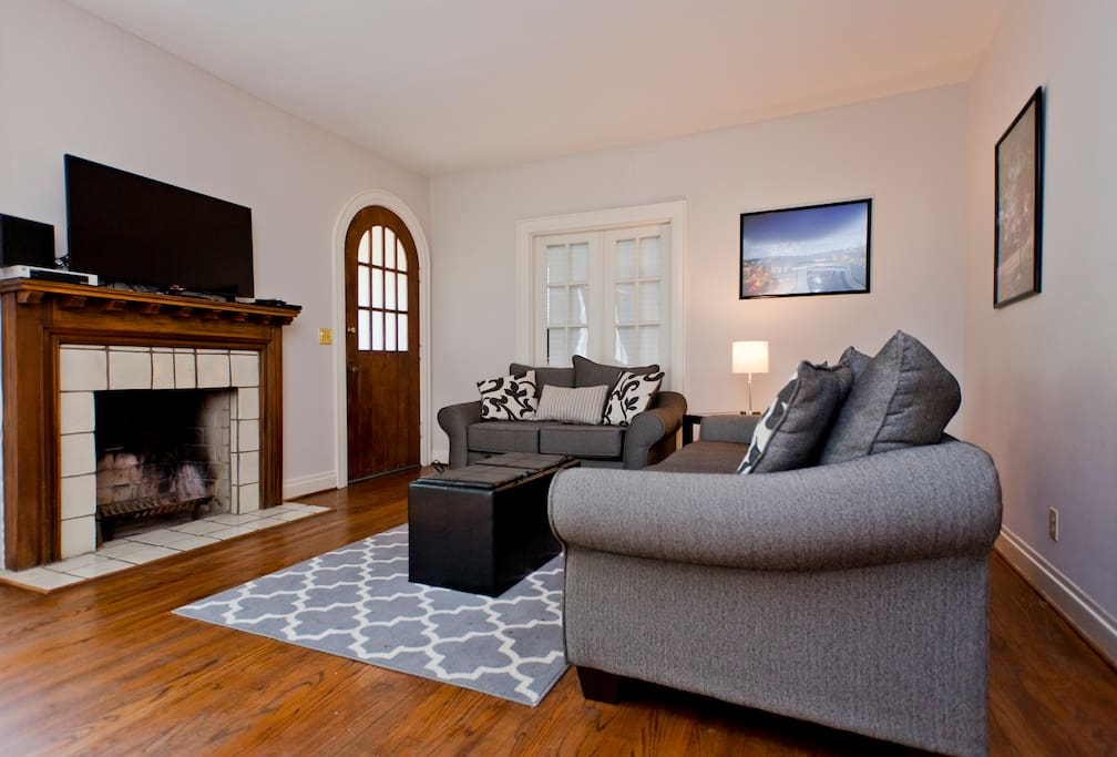 There is now a queen size sofa bed in this living room (we replaced the two couches above).   Permit #201514527