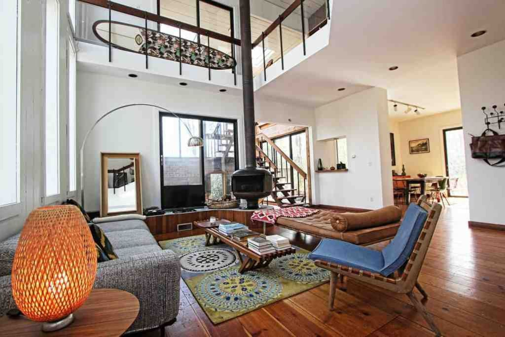 double-height ceilings, loads of light