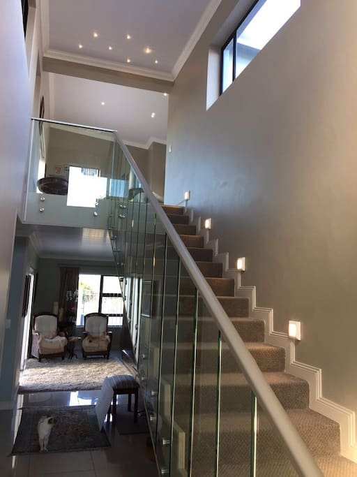 Stairs leading to apartment