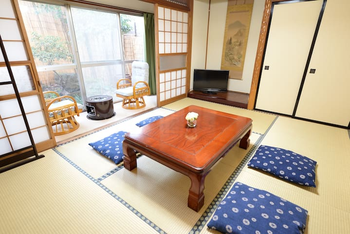Destiny Inn Sakaiminato JPN style room with Gerden
