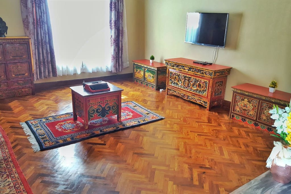 As you enter our Traditional Tibetan apartment, these bold and beautifully handcrafted furniture welcomes you with a warm sensation.