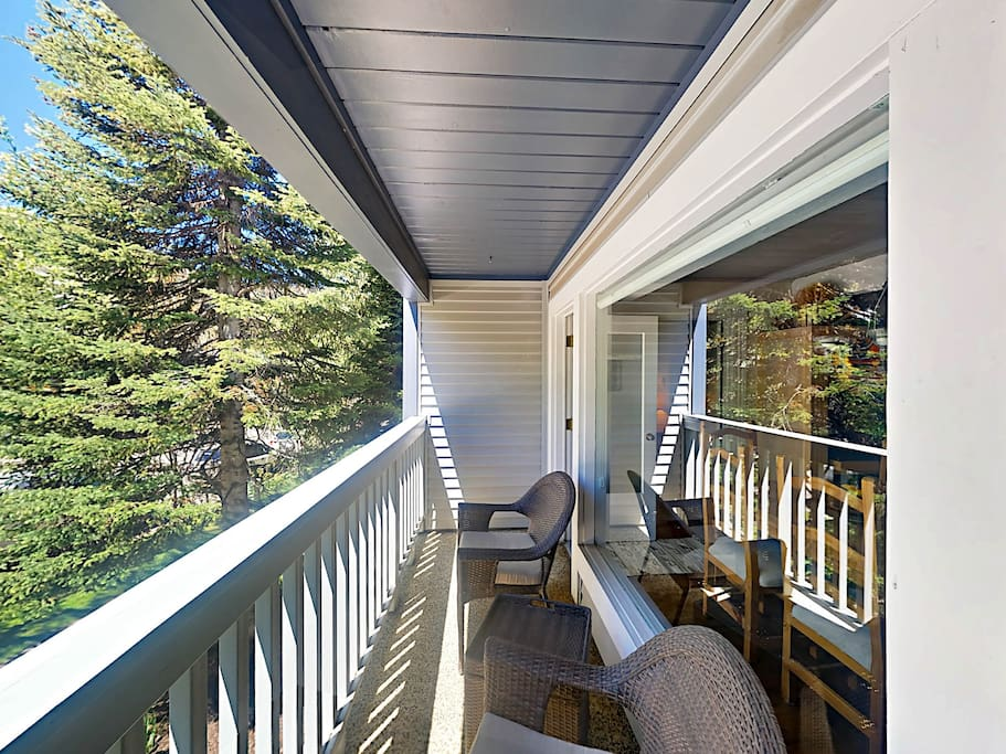 Step outside and sip your morning coffee on the balcony.