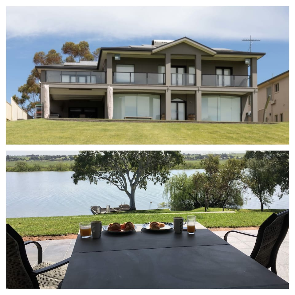 River Devine offers guests a spacious home with direct access to the river. There are 5 Bedrooms, 3 Bathrooms and 2 lounging areas. Enjoy a game of pool. Great kitchen utilities and BBQ area. Corporate and social event enquiries welcome
