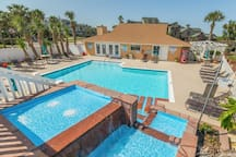 Welcome to Cozy Coastal Retreat! Enjoy the refreshing pool during the hot Texas summers.
