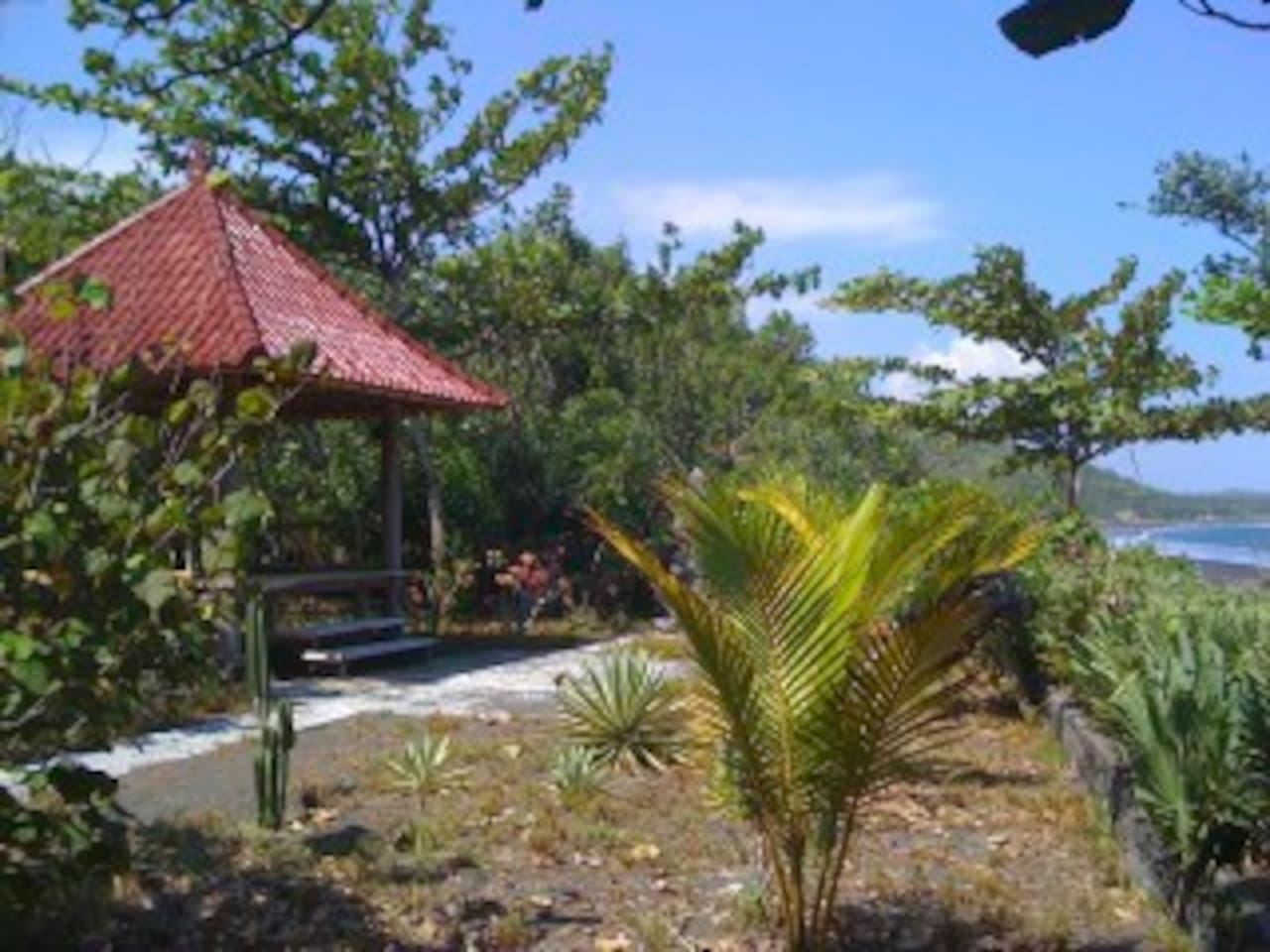 Baleh Bengong on the Puri Bali Hatchery property near the quiet beach. Absolute privacy.