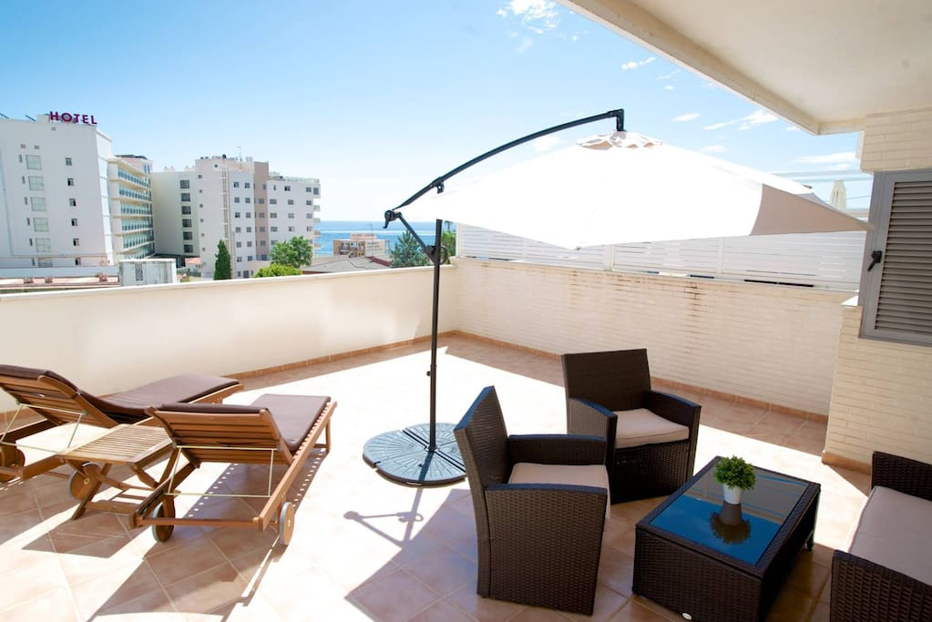 terrase with sea view
