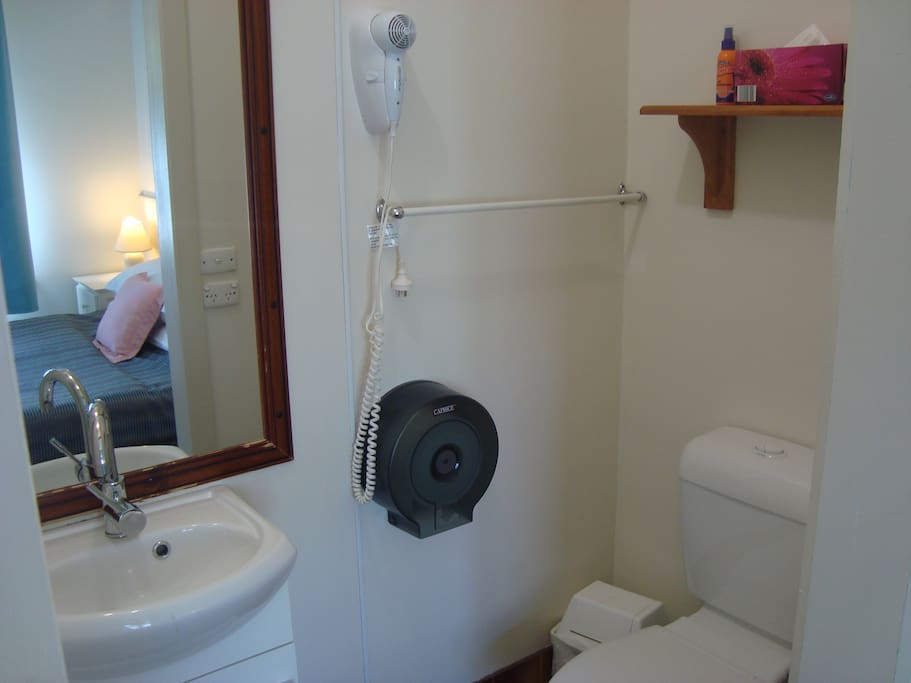 Studio ensuite bathroom