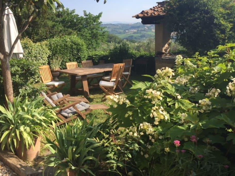 outside private garden
