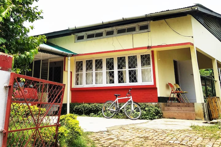 Traditional Assamese house with spacious garden
