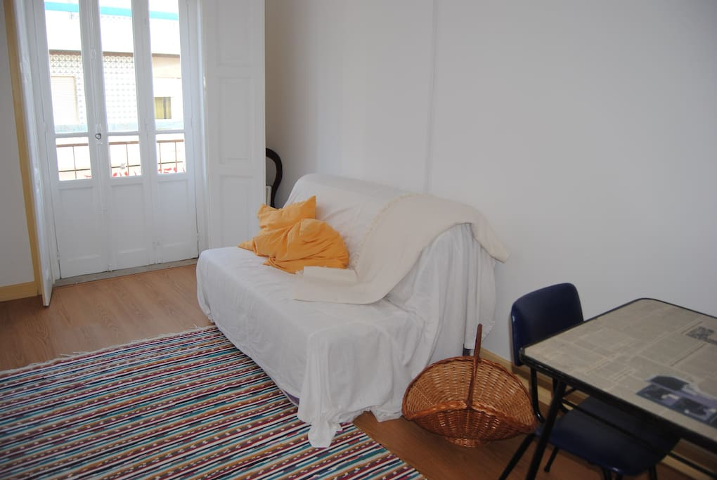 Bedroom with sofa-bed