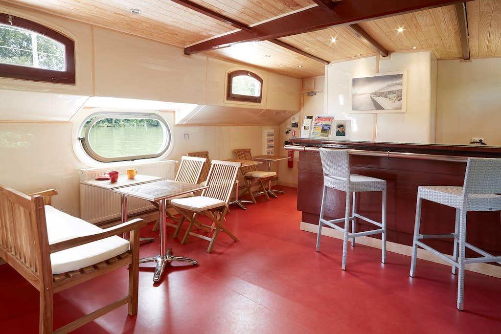 parties communes 50m² : salon - salle à manger-cuisine
