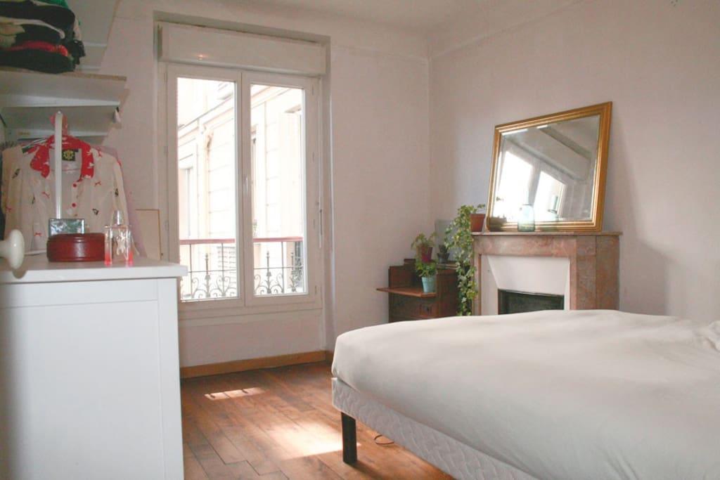 Beautiful bedroom with dressing overlooking very quiet courtyard.
