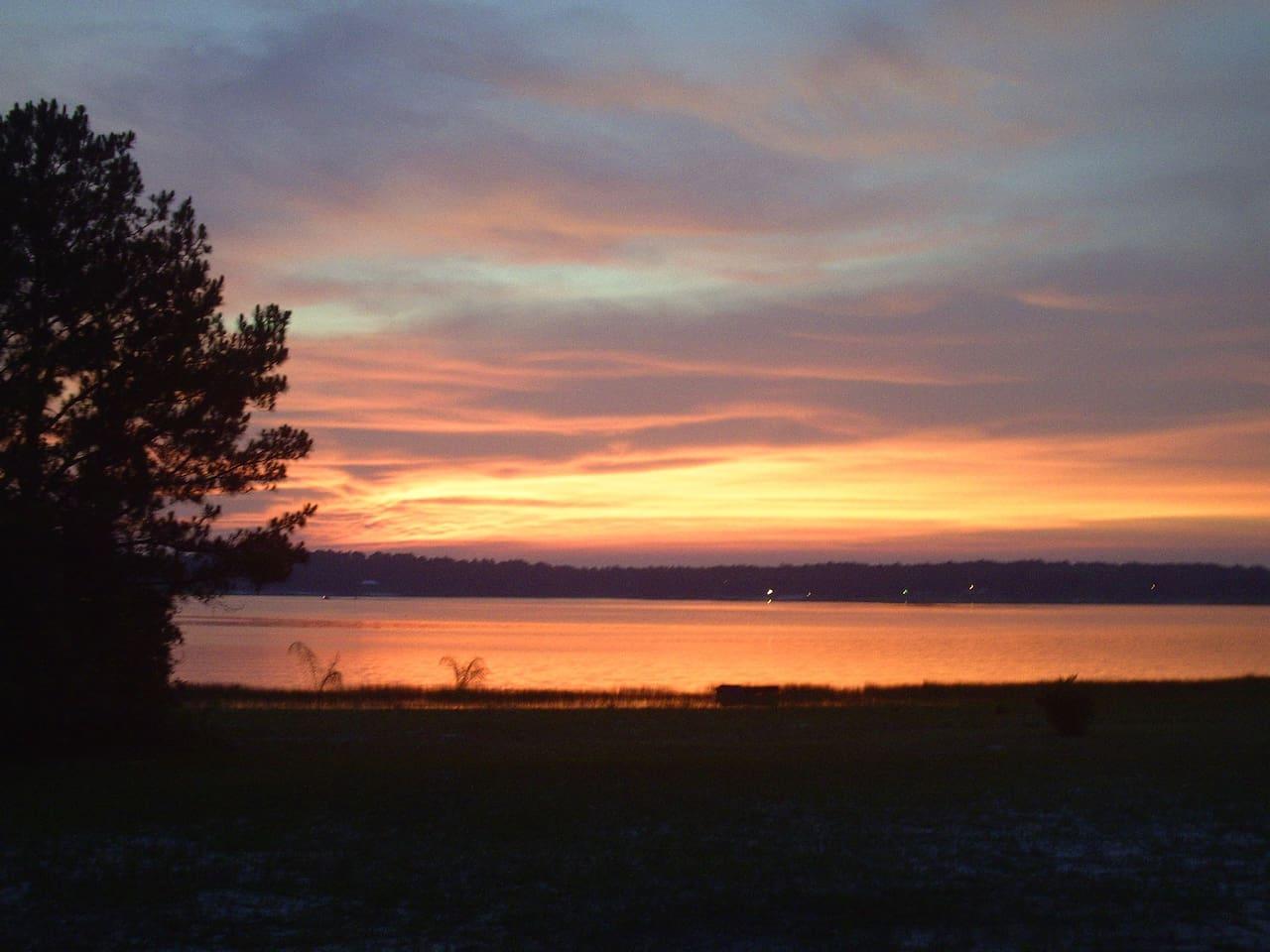 SUNSET at SWAN LAKE