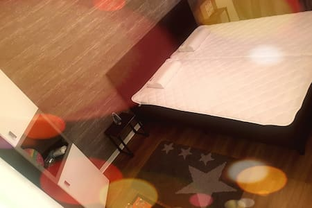One room with big bed for one or two people