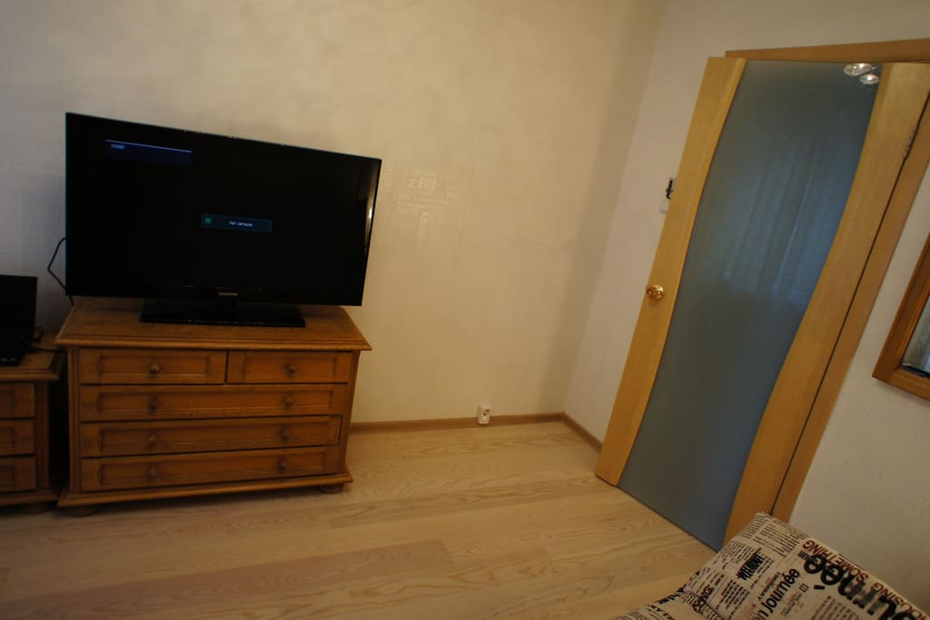 """Bedroom with 32""""TV"""