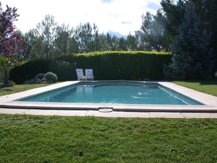 Gite guests of course have access to the pool at all times.  Weather permitting...!