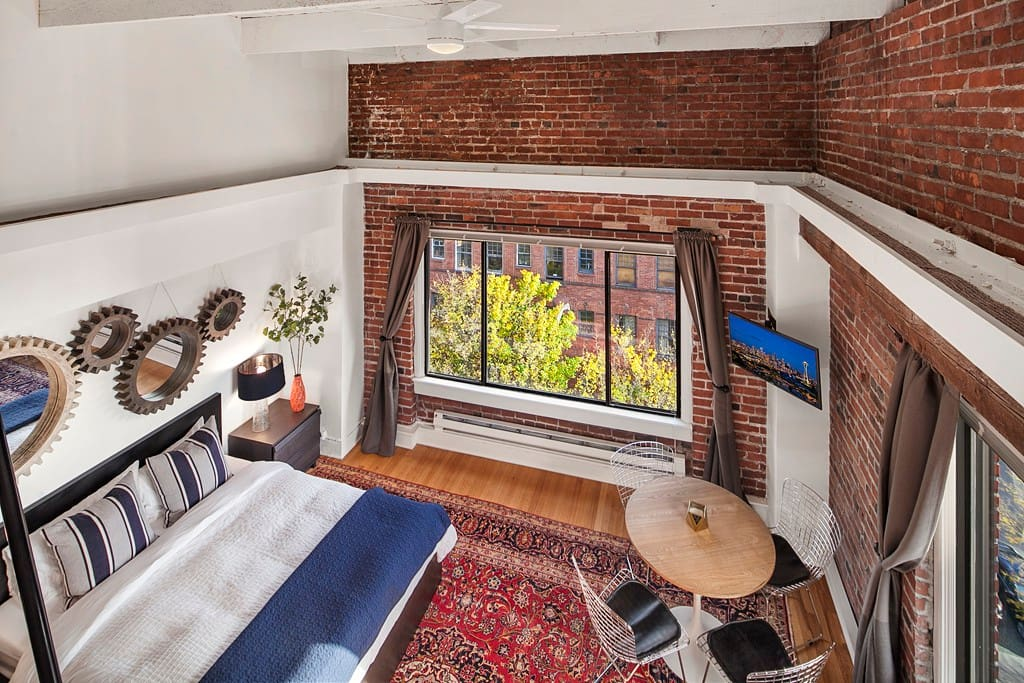Old world charm, but newly remodeled, spacious loft