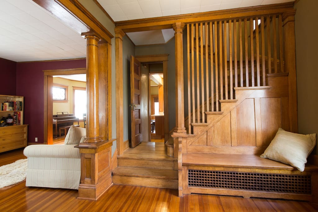 Enter our classic home and your bedroom is just up the stairs