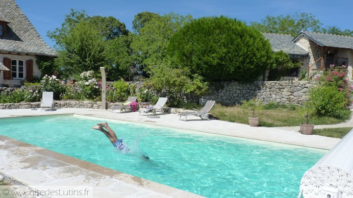 Charming gîte 2/4 people, Pool-Wifi