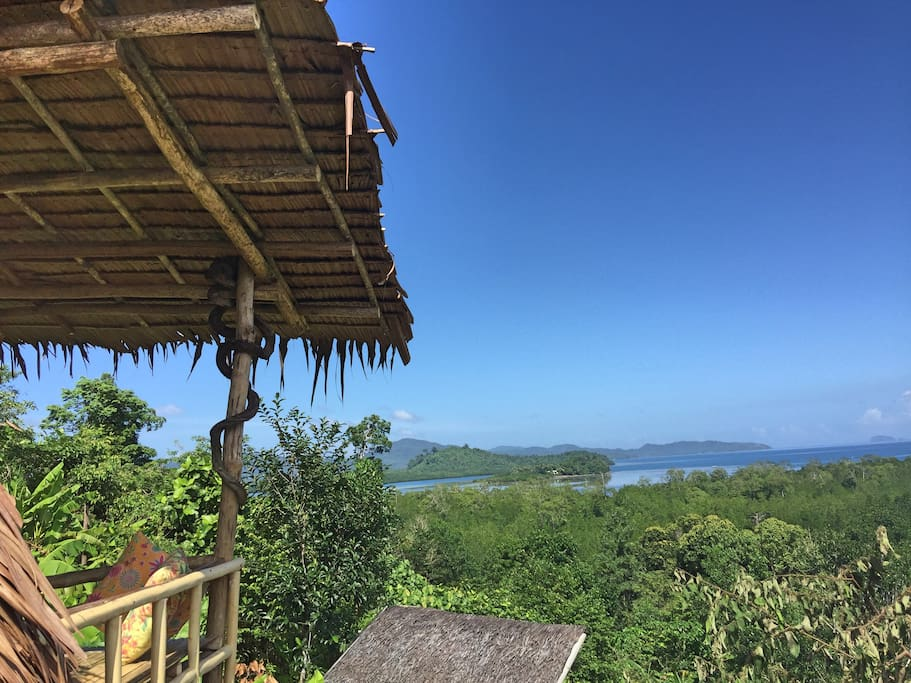 The view from The Hut. Jungle bar restaurant & hut