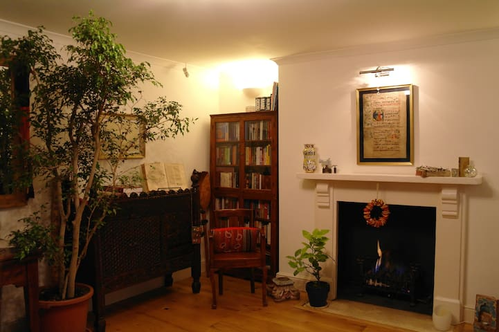 Sala con caminetto / Living room with fireplace