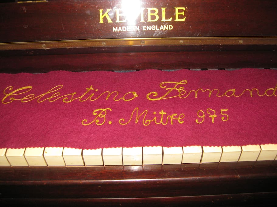 My mother's in tune piano.