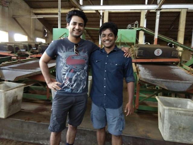 Mr Kenny Sebastian and Naveen Richard visiting.