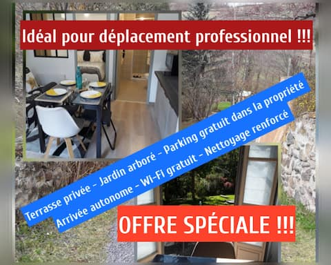 ☆♡Charmant appartement cosy/5 min du Puy-en-Velay!