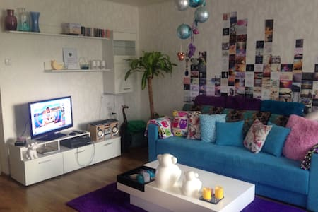 Stylish colourful apartment near city centre