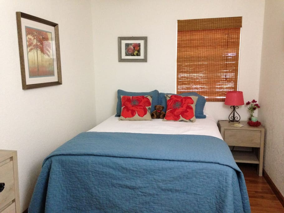Guest room with double bed. Sleeps 2.