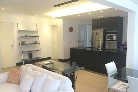 Safe, beatiful and convenient location in Santo André-SP with a lot of facilities: Supermarket, mall, hospital, clubs, pubs, convenient stores (bakery, gym, ATMs/banks, schools, goods restaurants, laundry and much more...
