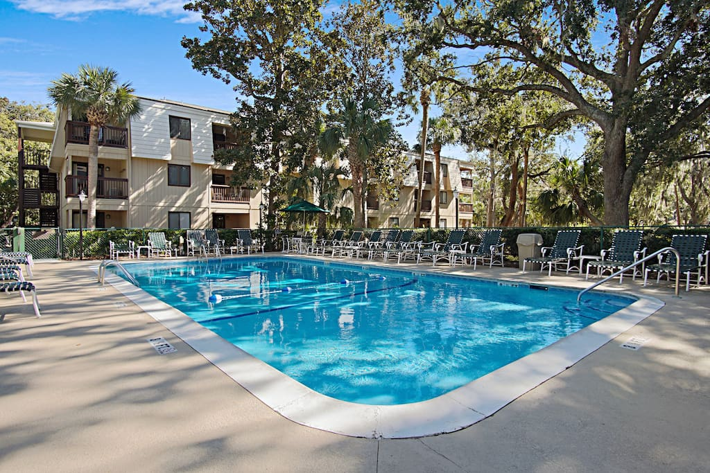 Look forward to many perfect pool days lounging beside the community pool.