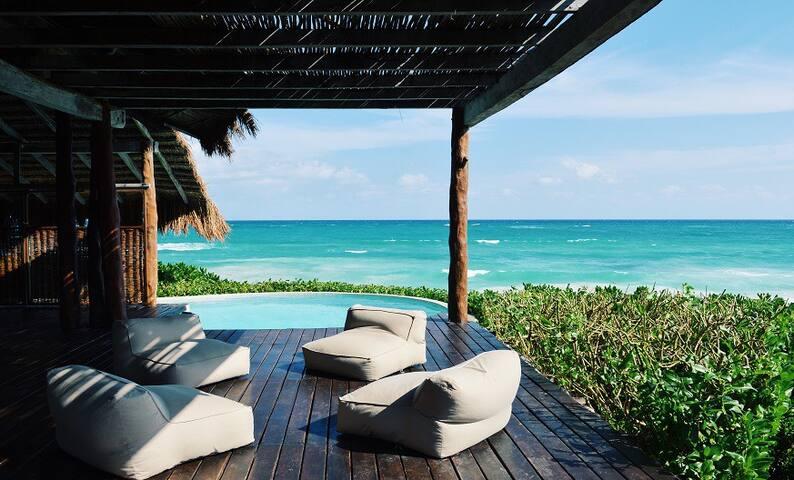Casa Palapa  Eco Beachfront 5 BR