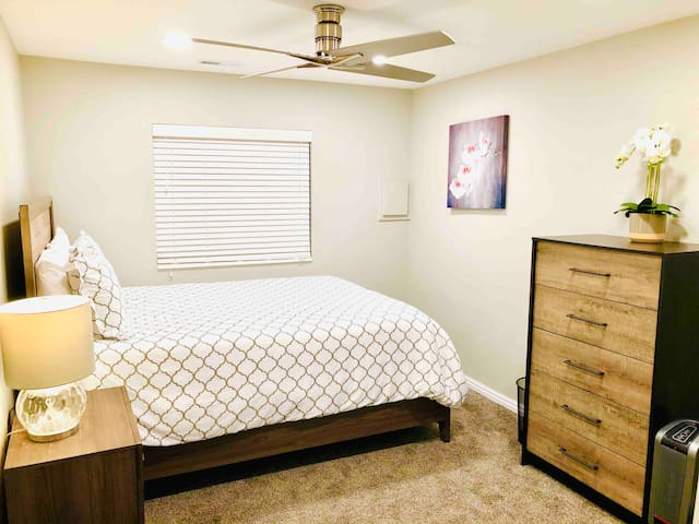 Bedroom 2 with another comfy queen mattress
