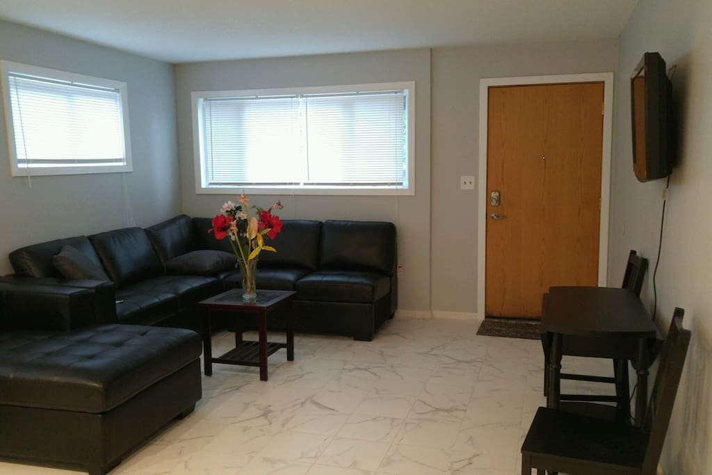 New sectional sofa in living room