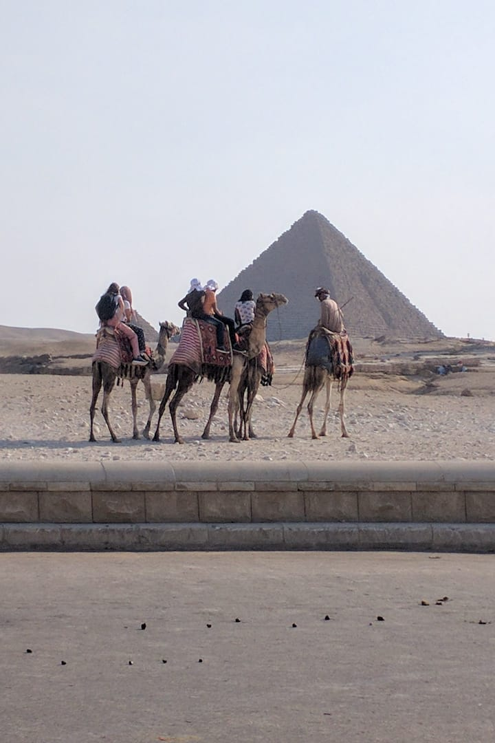 Camel riding at the Pyramids