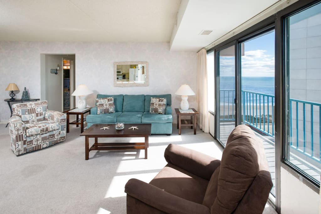 Plenty of room to relax in this spacious 2 bedroom beach home.