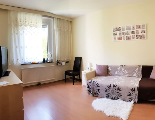 Comfortable modern room in cpacious apartment