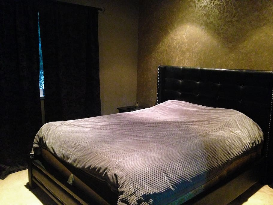 Master Bedroom with remote controlled lights