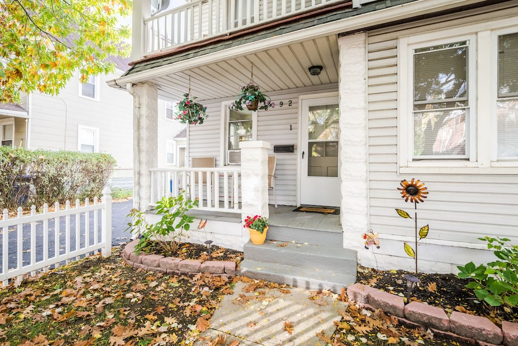 Cute porch to enjoy reading a book or drinking your morning coffee