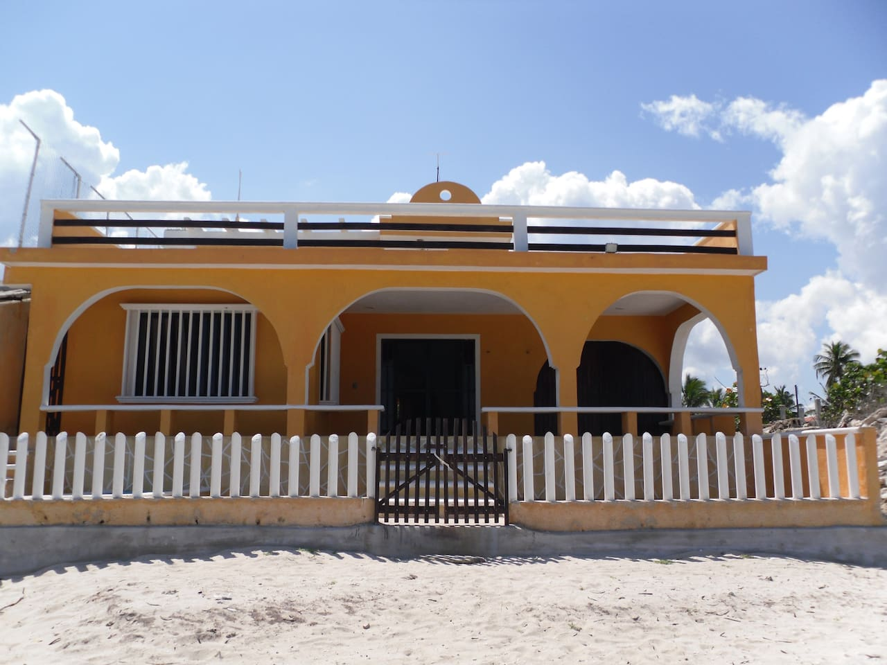 House Beach Front View